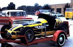 Bobby Unser #1 DuQuoin 1969 Sprint Car Racing, Dirt Track Racing, Auto Racing, Cab Over, Old Race Cars, Transporter, How To Be Likeable, Indy Cars, Champs
