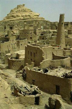 Mud huts in Matruh, Egypt  by Ancient Civilizations & Bible History