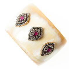 Penny Winter cuff bracelet with raw ruby