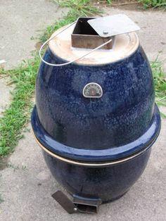 MAKE   Little Blue Egg — flower-pot grill