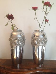 Your place to buy and sell all things handmade Art Nouveau, Antique Art, Vases, Vintage Items, Chrome, Etsy Shop, This Or That Questions, Band, Antiques
