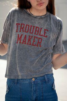 Brandy Melville | Aeryn Trouble Maker Top - Graphics