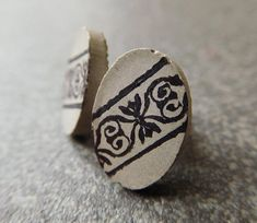 Oval concrete stud earrings / concrete jewelry minimal