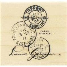 Tres Port Postal Rubber Stamp- Hobby Lobby