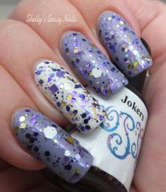 Utopia's Polish Jokers over Essie She's Picture Perfect and Zoya Purity