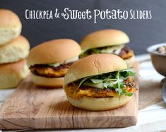 Chickpea and sweet potato sliders