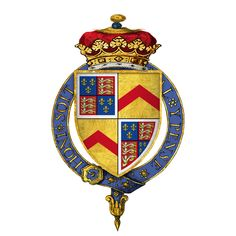 Arms of Sir Edward Stafford, 3rd Duke of Buckingham, He was the son of Henry Stafford, 2nd Duke of Buckingham, and Katherine Woodville, whose sister, Queen Elizabeth Woodville