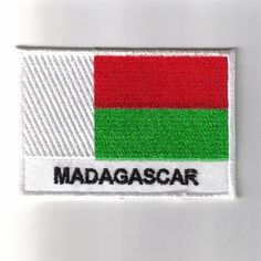 FLAG PATCH PATCHES MadagascarCHAD IRON ON COUNTRY EMBROIDERED WORLD FLAG
