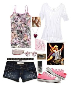"""R5 Day 13"" by jade-ross32 ❤ liked on Polyvore featuring American Eagle Outfitters, Aéropostale, Hollister Co., Abercrombie & Fitch, Converse and Juicy Couture"