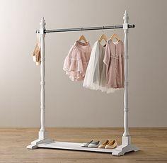 Mini Wardrobe Rack #RHBABYandCHILD  Ryan needs to build this!