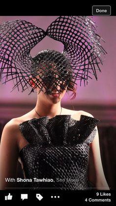 Shona Tawhiao Flax Weaving, Queen Outfit, Maori Art, Nymph, Costume Design, Wearable Art, Savage, New Art, Girly