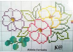 Easy Cross Stitch Patterns, Cross Stitch Borders, Cross Stitching, Cross Stitch Embroidery, Cross Stitch Tree, Simple Cross Stitch, Cross Stitch Flowers, Cat Applique, Hand Embroidery Videos