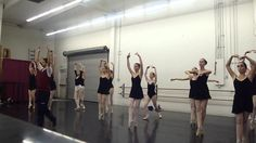 Advanced Ballet Class Pointe Center Combinations Pirouettes Ages 14-18