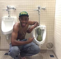 Tyler the Creator with a Pineapple to give yall a good laugh in this quarantine Photo Wall Collage, Picture Wall, Tyler The Creator Wallpaper, Hiphop, Rap Wallpaper, Odd Future, Mood Pics, Flower Boys, Reaction Pictures