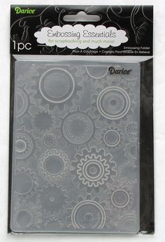 Darice Steampunk Gears A2 Embossing Folder by catSCRAPPIN on Etsy