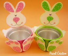 Easter is our favorite holiday because who doesn't love delicious desserts, Easter eggs and cute bunnies? For anyone who planning to gift their children, friends or family on this special day, here's a fun Easter craft idea: a craft foam bunny pot / . Kids Crafts, Bunny Crafts, Foam Crafts, Easter Crafts, Diy And Crafts, Craft Foam, Easter Projects, Craft Projects, Spring Crafts
