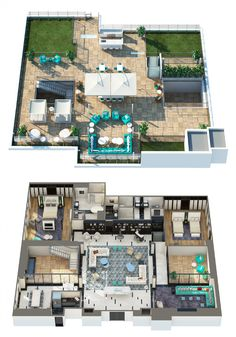 The London West Hollywood The Penthouse sqft (NYC) House Plans Mansion, Sims House Plans, House Layout Plans, Dream House Plans, House Layouts, Sims 4 House Design, Bungalow House Design, Small Apartment Design, Apartment Layout
