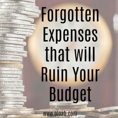 The key to budgeting success is remembering to budget for every expense. Don't forget these 5 things when putting together your budget. Life On A Budget, Our Life, Budgeting, Money, Lifestyle