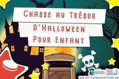Une chasse au trésor à faire pour Halloween. Une activité d'Halloween ludique pour les enfants. Télécharger et imprimer le kit en cliquant ici.