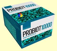 PROBIOT Probiótico 10000 defensas 15 sobres.Para recuperar el equilibrio de nuestra defensa, es aconsejable repoblar la flora intestinal  Con cofactores metabólicos y fisiólogicos.  Fermentos lácticos: Lactobacillus acidophilus, Lactobacillus paracasei, Lactobacillus plantarum, Bifidobacterium lactis, Propionibacterium freudenreichii, Fructooligosacáridos 2,4 grs., Vitamina B1, Vitamina B2, Vitamina B6 Vitamina B12, Manganeso, Glutamina, Calostro, Lactoferrina, Bioflavonoides.  15 sobres de…