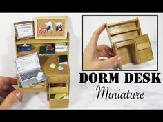 Miniature Dorm Room Desk Tutorial | Creating Dollhouse Miniatures | Bloglovin'
