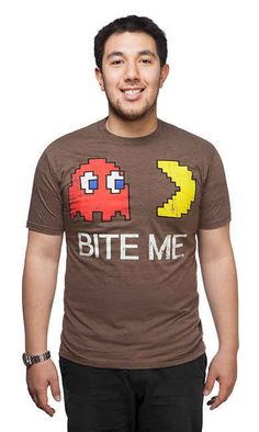 This Pac-Man tee with a tone that could go more ways than one.