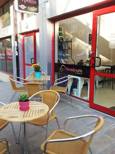 Trendy kaffe - Sofia, Bulgaria. Spring is already here.