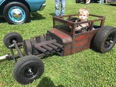 Learn even more info on hot rod cars. Look into our site. Custom Radio Flyer Wagon, Radio Flyer Wagons, Rat Hod, Wheelbarrow Wheels, Kids Wagon, Diy Go Kart, Car Part Furniture, Little Red Wagon, T Bucket