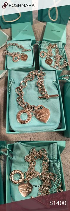 💙Beautiful New Tiffany's Bracelet & Necklace 💙 Never Worn Authentic Tiffany's Bracelet & Necklace.   💠Sold as a set‼️  ❌Final Sale❌  Tiffany & Co Heart Tag Charm Toggle Bracelet & Necklace.  Comes with: Box, dust bag, bracelet, necklace Tiffany & Co. Jewelry Bracelets