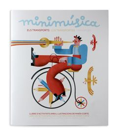 Coloring & activity book by Maria Corte Maidagan, via Behance
