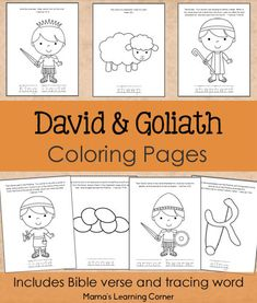 Download this 7-page set of David and Goliath Coloring Pages - the perfect complement to a child's Bible study!