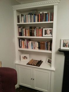 Finally got around to building my own alcove cupboard and shelves...