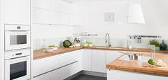cuisine blanche et bois par darty