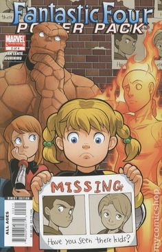 Fantastic Four and Power Pack (2007) 2 marvel comics cover