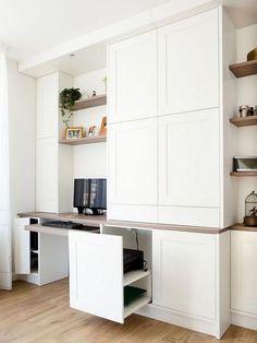 California Closets Built-In Bookshelves: Our Home Office Design – Anne Sage Office Nook, Guest Room Office, Home Office Space, Home Office Design, Home Office Decor, Home Decor, Guest Rooms, Office Ideas, Bookshelves Built In