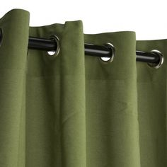 Spectrum Cilantro Sunbrella Outdoor Curtains Grommets $129.99  Designed for heavy use and minimal care, Sunbrella is the most established, best known high -performance outdoor fabrick on the market today, with an unmatched history of quality, durability andproduct attractiveness. A heavy-duty yet lightweight solutio