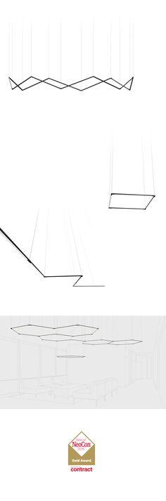 Koncept z-bar LED pendant