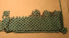 Waist ornament from Viking dress, Humikkala, Masku. Made separately from wired spiral beads and sewn onto the dress  Helsinki national museum  http://torwen.blogspot.com.au/2012/08/helsinki-national-museum.html
