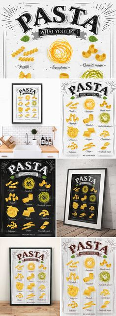 Pasta Poster by Anna on @creativemarket