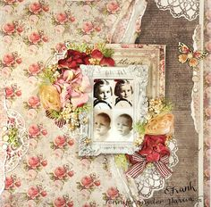 DIY instructions - Prima and Frank Garcia's Tales of You - vintage scrap book page