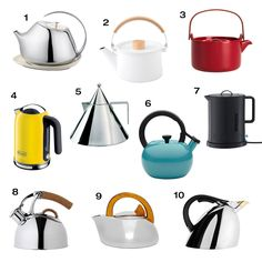 With so many options on how to make it, we did our best to narrow down our ten favorite modern tea kettles and pots to help you get the job done this fall.