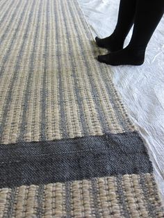 Ribbed carpet in mohair