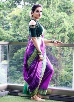 Bridal Silk Saree, Saree Wedding, Kashta Saree, Sari, Marathi Saree, Marathi Nath, Girl Outfits, Fashion Outfits, Womens Fashion