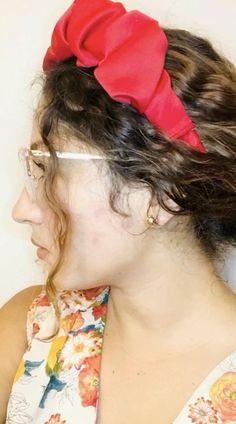 Diy Hair Scrunchies, Diy Hair Bows, Ribbon Hair, Diy Bow, Headband Styles, Diy Headband, Turban Headband Tutorial, Headband Pattern, Sewing Headbands