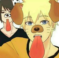 Imagem de naruto e sasuke