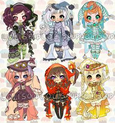 WITCHES IN STITCHES ADOPTABLE AUCTION by Lolisoup.deviantart.com on @deviantART
