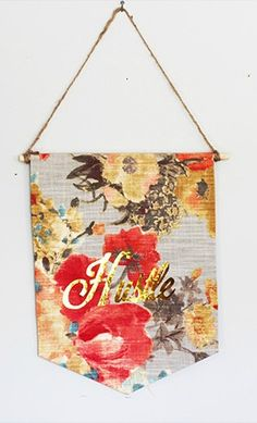 Floral Fabric Pennant Banner DIY and 11 other craft ideas and with a tutorial.