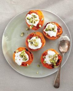 Broiled Apricots with Fresh Ricotta and Pistachios Recipe