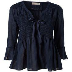 Odd Molly Remix Blouse ($150) ❤ liked on Polyvore featuring tops, blouses, odd molly, shirts, blouses & shirts, indigo, womens-fashion, cuff shirts, 3/4 length sleeve shirts and 3/4 sleeve shirts