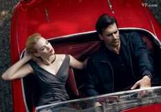 Photographer Annie Leibovitz recently had the pleasure of shooting Jon Hamm and January Jones for Vanity Fair's September 2009 issue. The duo play Don and Betty Draper in AMC's Mad Men which is set to enter its season on August Betty Draper, Don Draper, Vanity Fair, Demi Moore, John Lennon, Mad Men Mode, John Hamm, Annie Leibovitz Photography, January Jones